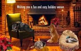 Fun and Cozy Holiday Season pet ecard