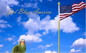 God Bless America pet ecard