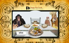 Passover Dinner invitation pet ecard