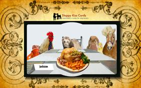 Invite To Thanksgiving Dinner pet ecard