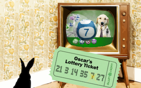 St. Patrick's Day Lucky Lotto pet ecard