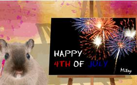 Fourth of July Art pet ecard