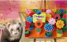 Thank You Art pet ecard