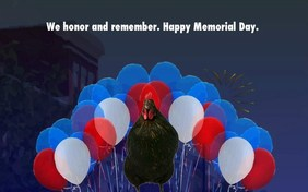 Memorial Day Parade pet ecard