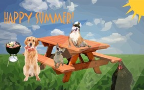 Happy Summer pet ecard