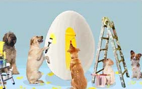 Easter Surprise ecard starring two pets