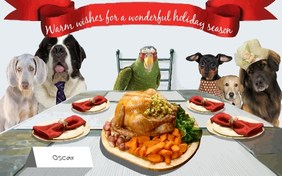 Warm Wishes holiday pet ecard