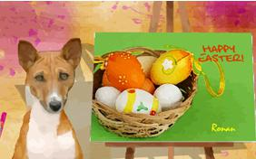 Easter Art dog ecard