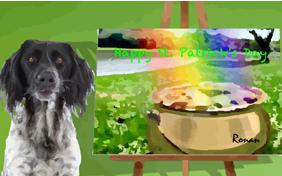 St. Patrick's Day Art dog ecard