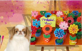Thank You Art ecard with dogs