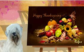 Thanksgiving Art dog ecard
