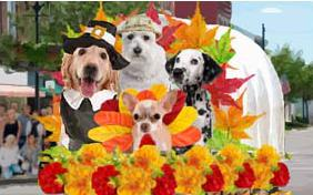 Thanksgiving Parade dog ecard