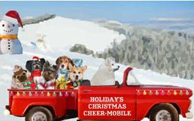 Christmas Truckload dog ecard