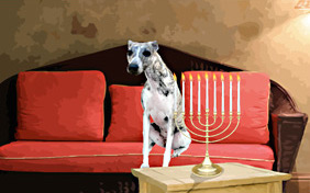 Hanukkah Dos and Don'ts ecard with dogs